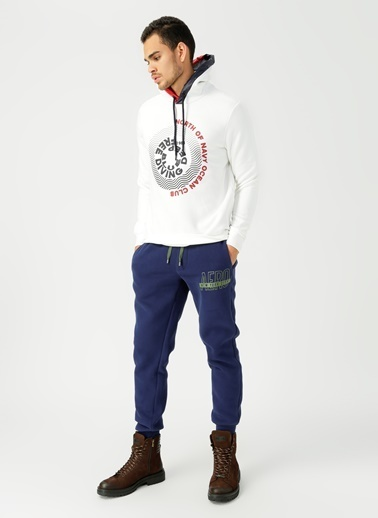 North Of Navy Sweatshirt Beyaz